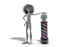 Barber metaphor Stock Image