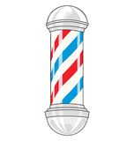 Barber pole. Vintage classic barber pole on a white background Stock Photo