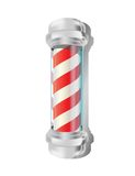 Barber pole. Isolated barber pole over white background Remark: Vector file .ai (CS3) contains mesh,transparency and some effects royalty free illustration