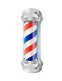 Barber pole. Isolated barber pole over white background Remark: Vector file .ai (CS3) contains mesh,transparency and some effects vector illustration