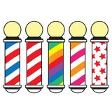 Barber pole. Vector illustration isolated over white background vector illustration