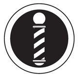 Barber pole. Vector illustration isolated over white background black and white stock illustration