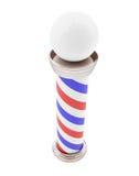 Barber Pole 3d illustrationer Arkivfoton