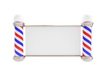 Barber Pole  on a white background. Barber Pole 3d Illustrations on a white background Stock Photo