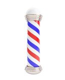 Barber Pole on a white background. Barber Pole 3d Illustrations on a white background Stock Image
