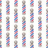 Barber pole.  Seamless watercolor pattern with Stock Images
