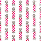 Barber pole.  Seamless watercolor pattern with Stock Photography