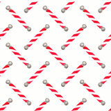 Barber pole.  Seamless watercolor pattern with Royalty Free Stock Photos