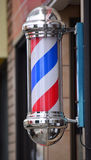 Barber pole sign Royalty Free Stock Image
