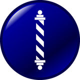 Barber pole vector button Stock Photography
