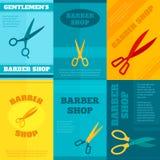 Barber Poster Set Lizenzfreies Stockbild