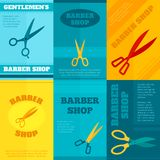 Barber Poster Set Royalty Free Stock Image