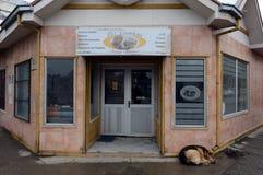 Barber in Punta Arenas. Royalty Free Stock Photo