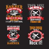Barber Quote Set for Graphic Goods, good for print. Barber Quote Set for Graphic Goods stock illustration