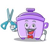 Barber rice cooker character cartoon Stock Photos