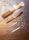 Barber& x27; s narzędzia zdjęcie royalty free