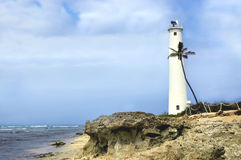 Barber's Point and Lighthouse Stock Photo