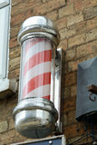Barber's pole. Red and white barber's pole Royalty Free Stock Photography