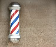 Barber's pole with space for text Royalty Free Stock Photography
