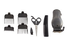 Barber's tool set. Royalty Free Stock Photography