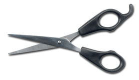 Barber scissors isolated Royalty Free Stock Photos