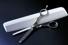 Barber Scissors professionale alla moda, taglio dei capelli Fotografia Stock Libera da Diritti