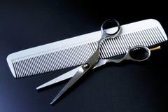 Barber Scissors professionale alla moda, taglio dei capelli ed assottigliarsi Immagini Stock