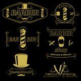 Barber Service Vintage Style Emblems Image libre de droits