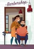 Barber Services Cartoon Illustration Illustration Libre de Droits