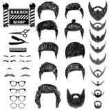 Barber set 1 Stock Images