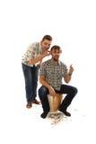 Barber shears man Stock Photo