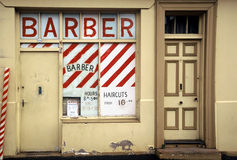Barber Shop. Derelict, abandoned Barber Shop, now closed for business Royalty Free Stock Photo