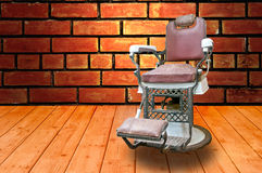 Barber Shop. With Old Fashioned Chrome chair Stock Image