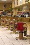 Barber Shop. Image showing chairs in a row stock photography