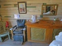 Barber Shop ad ovest anziana Fotografia Stock