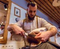 At the barber shop Royalty Free Stock Photos