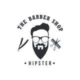 Barber Shop Badges Vintage Cool Retro designbeståndsdelar Logo etiketter, baner, emblem också vektor för coreldrawillustration stock illustrationer