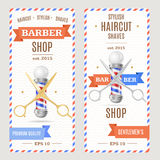 Barber Shop Banners Flyers Card Vecteur Photos stock