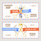 Barber Shop Banners Flyers Card Vecteur illustration stock