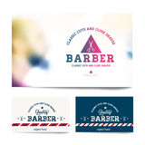 Barber shop business card template Royalty Free Stock Images