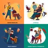 Barber Shop Cartoon Design Concept Photos libres de droits