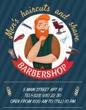 Barber Shop Cartoon Poster illustration stock
