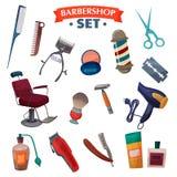 Barber Shop Cartoon Set Image stock
