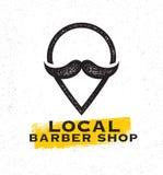 Barber Shop Creative Sign Concept locale sur le fond souillé approximatif illustration stock