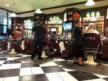Interior of a barber shop. Royalty Free Stock Image