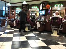 Interior of a barber shop. Stock Image