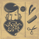 Barber Shop design elements Stock Images