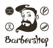 Barber Shop design elements Royalty Free Stock Photography