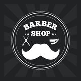 Barber shop design. hair salon. Stylist icon, vector illustration Royalty Free Stock Photography