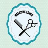 Barber shop design Royalty Free Stock Images